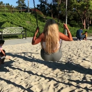 Enormous Fake Ass on Swing