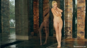 Sexy Platinum Blonde With Huge Natural Tits